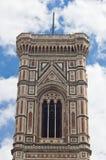 Деталь колокольни собора Флоренса Santa Maria del Fiore Стоковые Фотографии RF