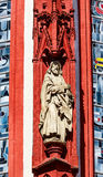 Деталь красивой дамы часовни в Wuerzburg, Германии стоковые изображения rf