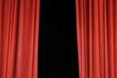 Красный занавес Стоковые Изображения RF