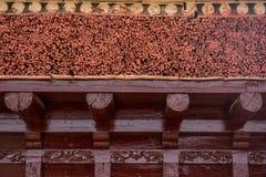 Деталь крыши монастыря в Leh Стоковые Изображения RF
