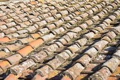 Деталь крыши Тосканы стоковое фото rf