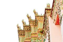 Деталь крыши Wat Po, виска пагоды Таиланда Стоковое Изображение