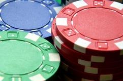 Деталь кучи обломоков покера Стоковые Фото
