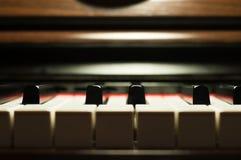 Деталь клавиатуры рояля Стоковое Изображение