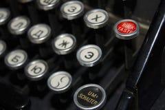 Деталь клавиатуры чернота машинки старая Стоковые Фотографии RF