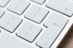 Деталь ключей на белой клавиатуре компьтер-книжки Стоковое фото RF
