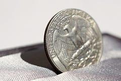Деталь макроса серебряной монеты одного американских доллара & x28; USD, Соединенные Штаты Америки Dollar& x29; Стоковое фото RF
