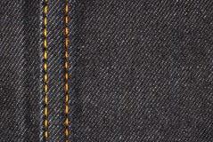 Деталь материала джинсовой ткани Стоковое Фото