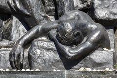 Деталь мемориала героев гетто, Варшавы Стоковая Фотография