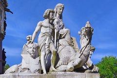 Деталь мемориала принца Альберта, Гайд-парк, Лондон Стоковая Фотография RF