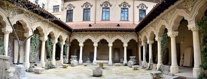 Деталь монастыря Stavropoleos стоковые изображения