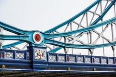Деталь моста башни над рекой Темзой, Лондоном, Великобританией стоковые фотографии rf