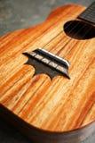 Деталь моста гавайской гитары Стоковая Фотография RF