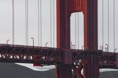 Деталь моста золотого строба Стоковое Изображение