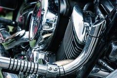 Деталь мотоцилк ветерана Стоковое Фото