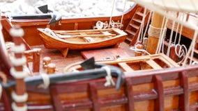 Деталь модели парусного судна - ручной работы стоковые изображения