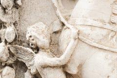 Деталь мрамора херувима Стоковые Изображения RF