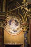 Деталь настенной росписи на стене в Sainte-Chapelle Стоковые Фото