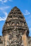 Деталь на главном каменном замке парка Phimai исторического Стоковое Изображение RF