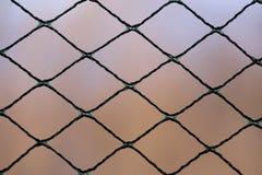 Деталь на протягиванной сети нейлона Стоковое Фото