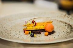 Деталь на специальном designe для еды на плите Стоковое Фото