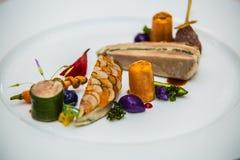 Деталь на специальном designe для еды на плите Стоковое Изображение RF