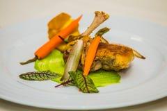 Деталь на специальном designe для еды на плите Стоковая Фотография RF