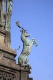 Деталь на статуе Вальтера Скотта Bohem 1888; Королевская миля; Lawnm Стоковые Изображения RF