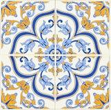 Деталь некоторых типичных португальских плиток стоковое изображение