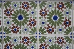 Деталь некоторых типичных португальских плиток стоковые изображения