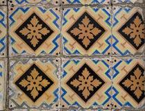 Деталь некоторых типичных португальских плиток стоковые изображения rf
