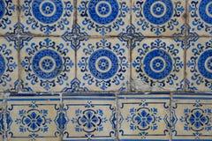 Деталь некоторых типичных португальских плиток стоковое фото