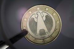 Деталь немецкого евро Стоковая Фотография