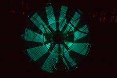 Деталь ночи фабрики стоковое фото rf
