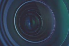 Деталь объектива фотоаппарата Стоковая Фотография