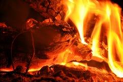 Деталь огня Стоковое Изображение