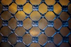 Деталь окна с решеткой ironwork Стоковые Изображения RF