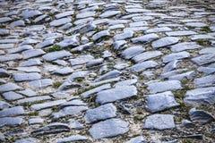 Деталь дороги булыжника Стоковое фото RF