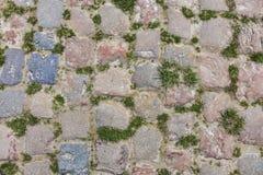 Деталь дороги Cobbelstone Стоковая Фотография RF
