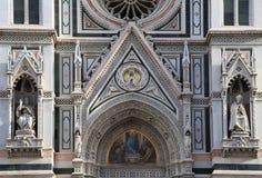 Деталь от главного фасада собора Santa Maria del Fiore внутри Стоковые Фотографии RF