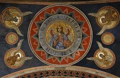 Деталь от потолка в монастыре Antim стоковая фотография