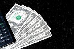 Деталь долларов США приближает к калькулятору Стоковые Изображения