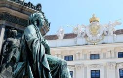 Деталь памятника к Kaiser Frantz i против Hofburg внутри Стоковое Фото