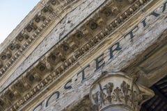 Деталь пантеона в Риме Близкий взгляд Пантеон был построен как a стоковое изображение rf