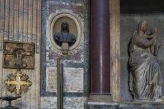 Деталь пантеона в Риме Интерьер близкого взгляда Пантеон был бушелем стоковое изображение rf