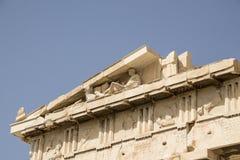 Деталь Парфенона, Афины, Греция Стоковое Изображение