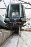 Деталь передачи пассажирского поезда Стоковое фото RF