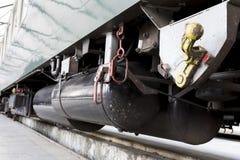 Деталь передачи пассажирского поезда Стоковые Изображения RF