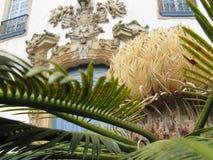 Деталь портала Nossa Senhora делает церковь Carmo в Ouro Preto Стоковая Фотография RF