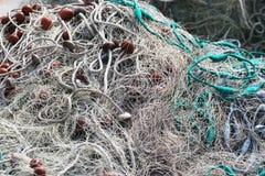 Деталь/предпосылка рыболовной сети Стоковое Изображение RF